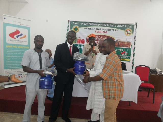 Exhibiting free liquefied petroleum gas (LPG) cylinders at the Pipelines and Product Marketing Company (PPMC) LPG Marketers' Forum