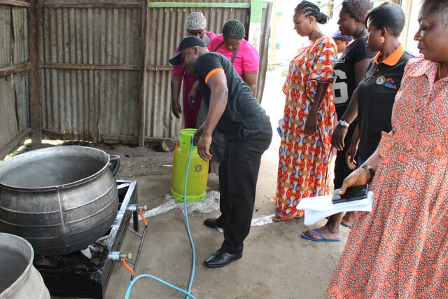 National Youth Service Corps (NYSC) receives gas burner