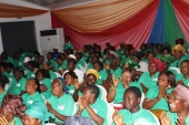 An eager audience at the launch of Project Mama Put