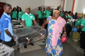 Gas cooker training at the launch of Project Mama Put