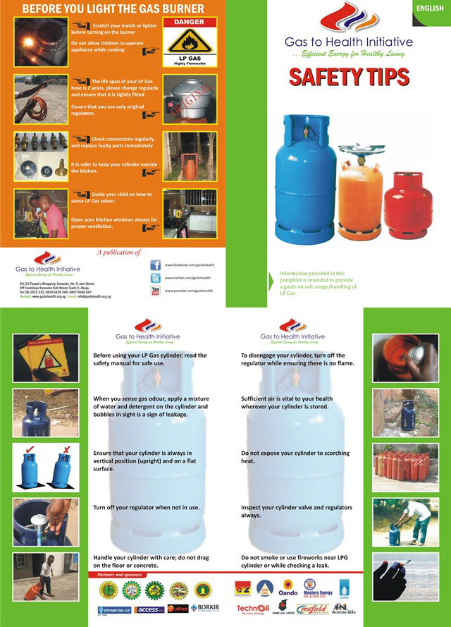 LP gas safety tips in English
